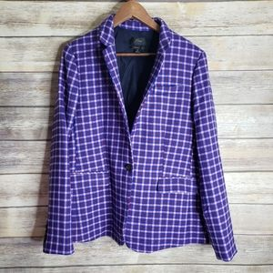 J.Crew regent plaid plus size blazer
